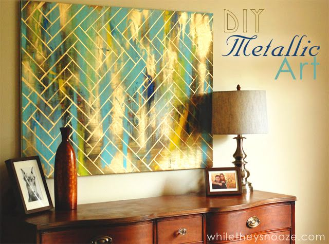 45 Geometric Art and Crafts Ideas | Herringbone, Metallic and Artwork