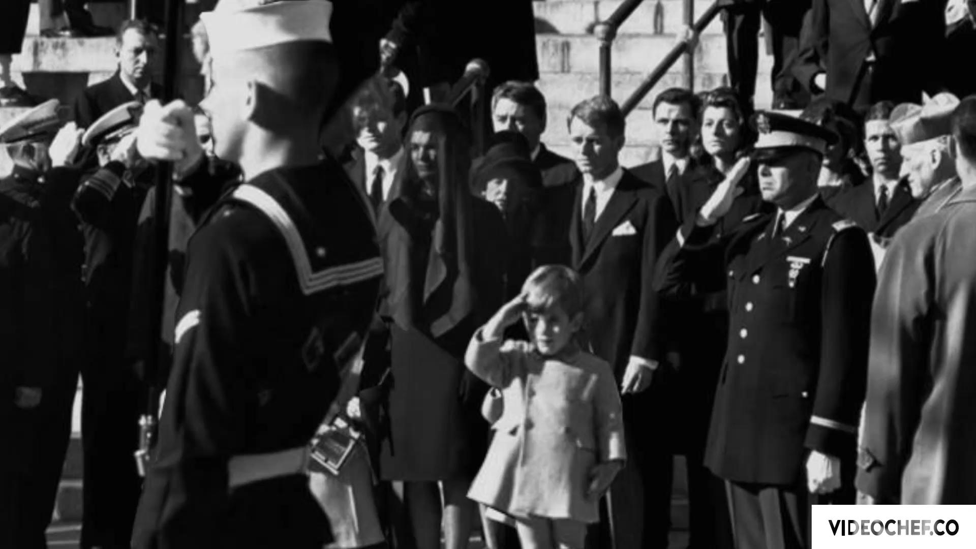 Bringing still photos to life] John F  Kennedy Jr  salutes