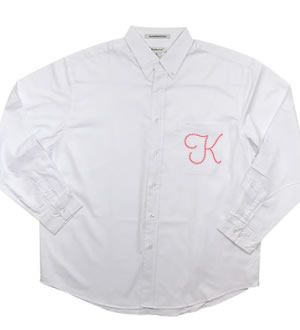 Personalized Button-Down Mens Shirt with Rhinestone Initial - doing this for the girls!!