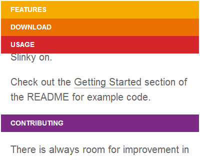 Slinky js – Scrolling Navigation Component for Web Apps #jQuery