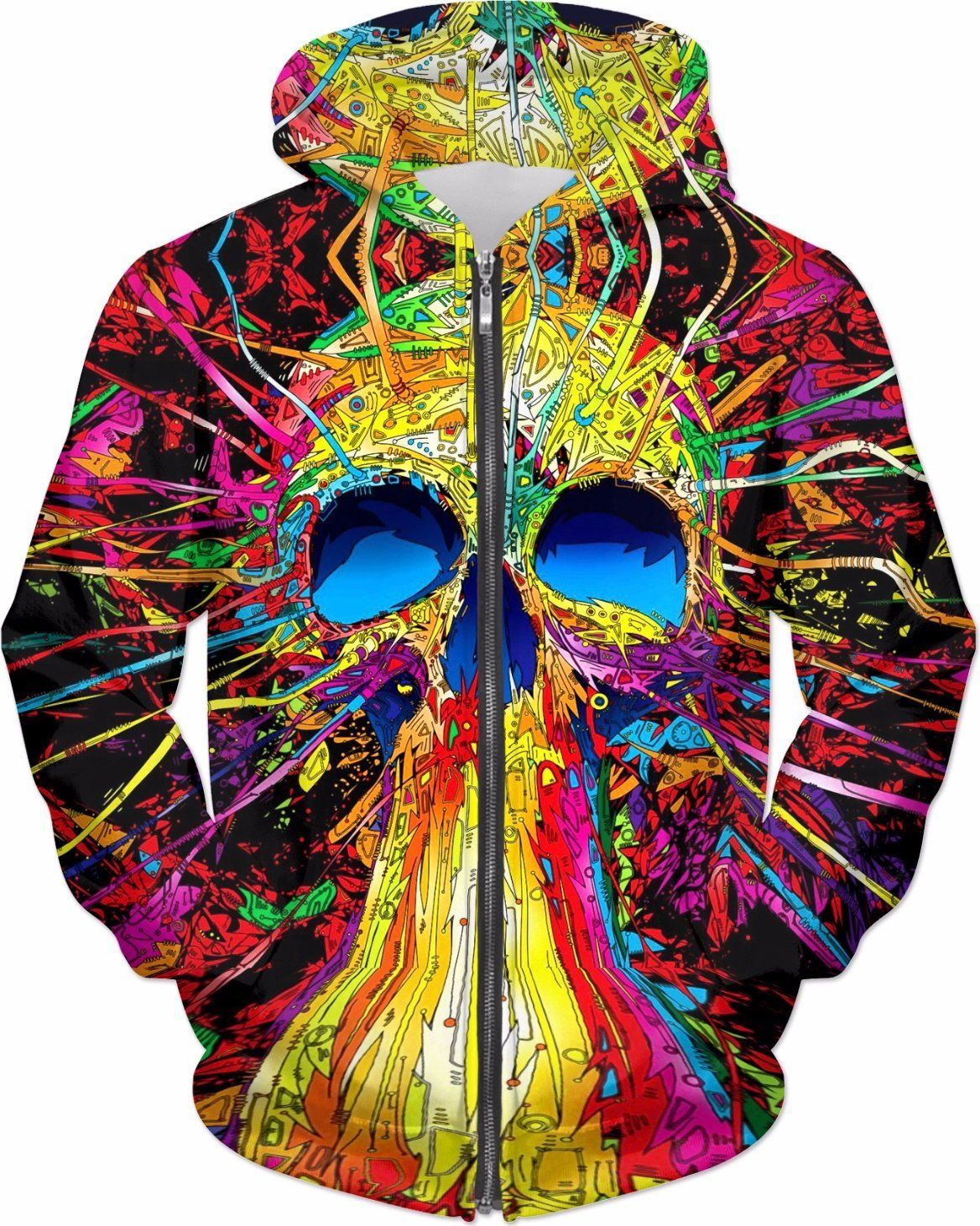 color skull tapestry hoodie hoodies color skull