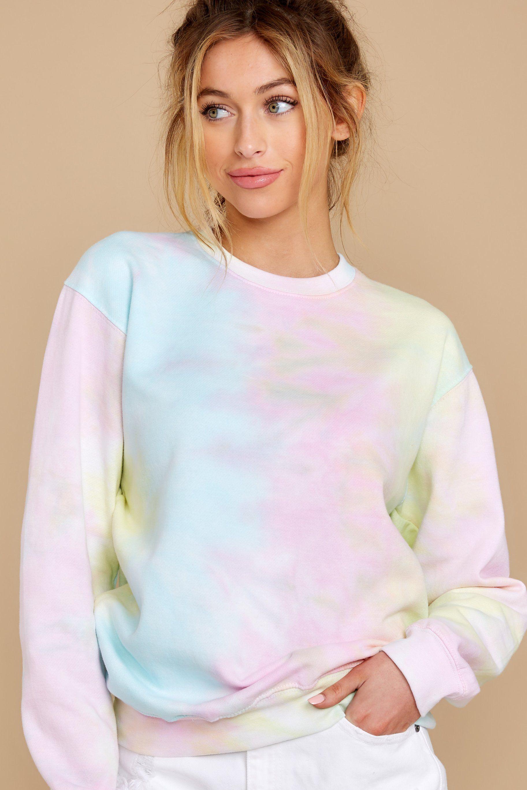 Sweet Yellow Tie Dye Sweatshirt Soft Oversized Pullover Top 28 Tie Dye Sweatshirt Pink Tie Dye Tie Dye [ 2738 x 1825 Pixel ]