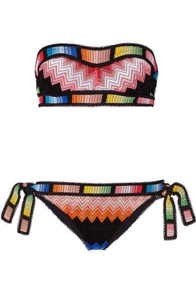 22cb601905 MISSONI Mare Crochet-Knit Bandeau Bikini. #missoni #cloth #beachwear ...