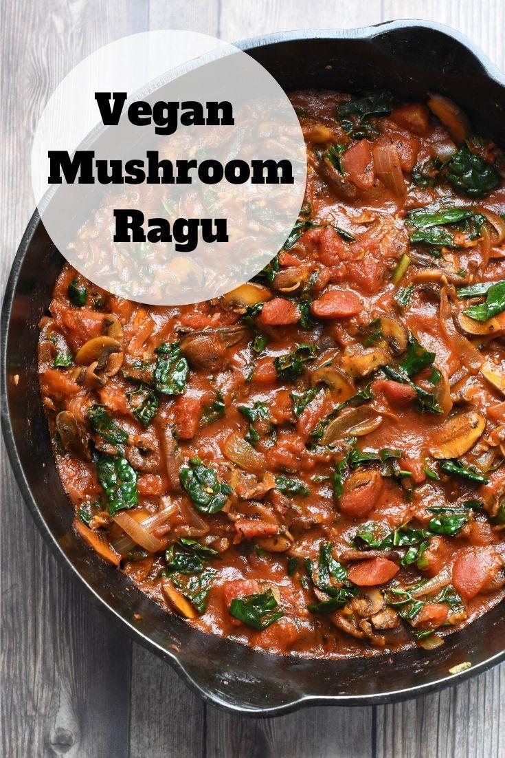 Vegan Mushroom Ragu #eggmeals