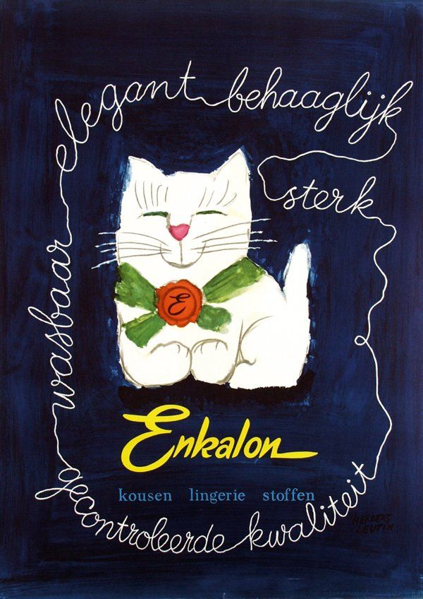 Herbert Leupin, Enkalon, ca. 1960,