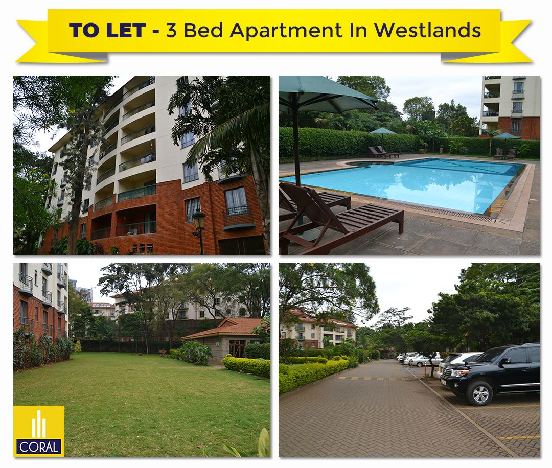 3 Bedroom Apartment For Rent In Westlands Taarifa Gardens With