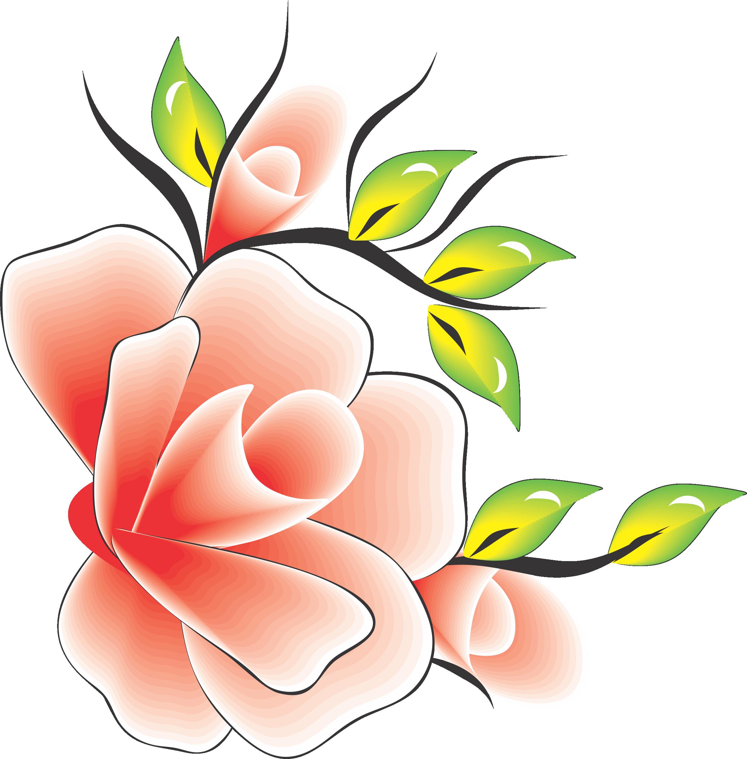 flor rosa com amarelo verde para adesivo artesanal flores