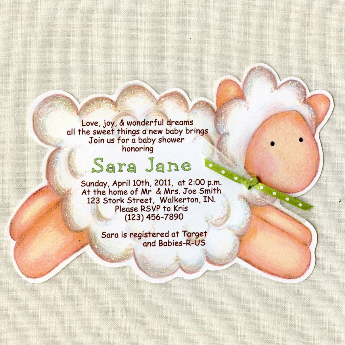 10 Lamb Baby Shower Invitation - Baby Party - Announcement ...