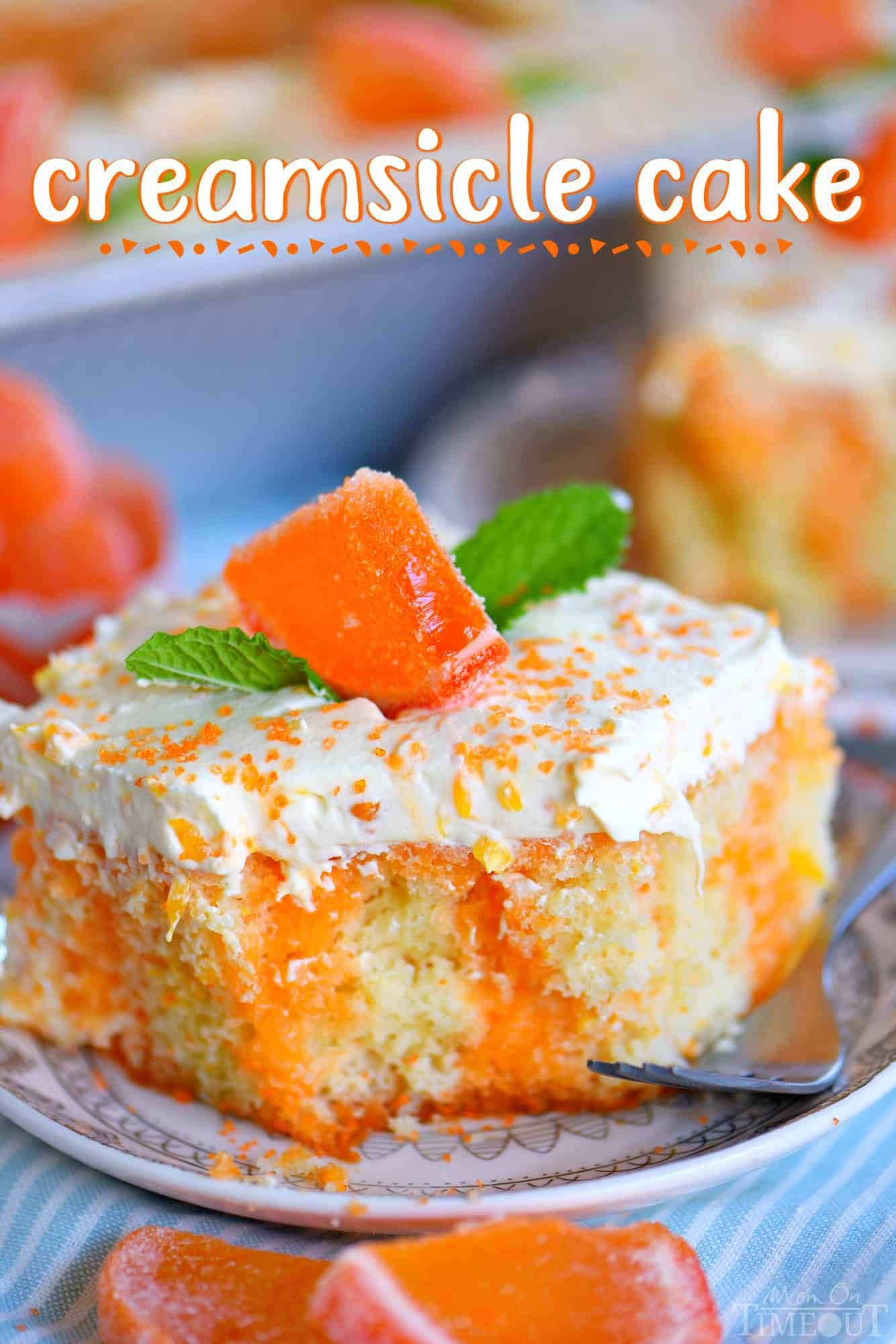 this easy orange creamsicle poke cake is a wonderful addition to all