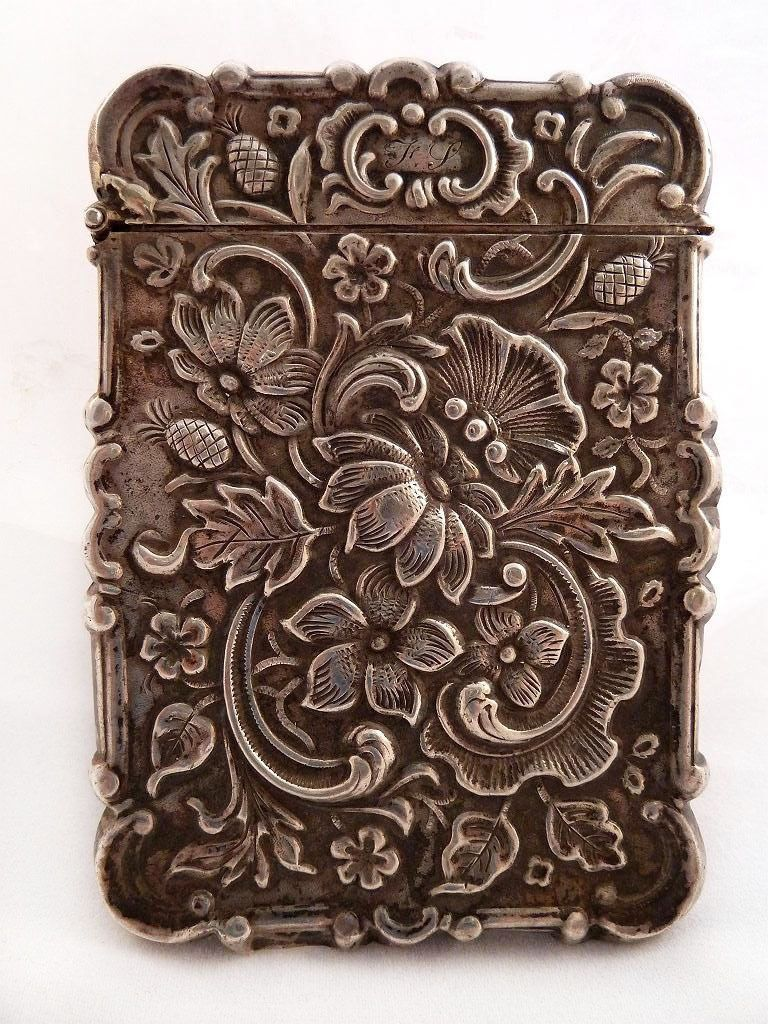 Gorgeous Silver American Victorian Calling Card Case | Victorian ...