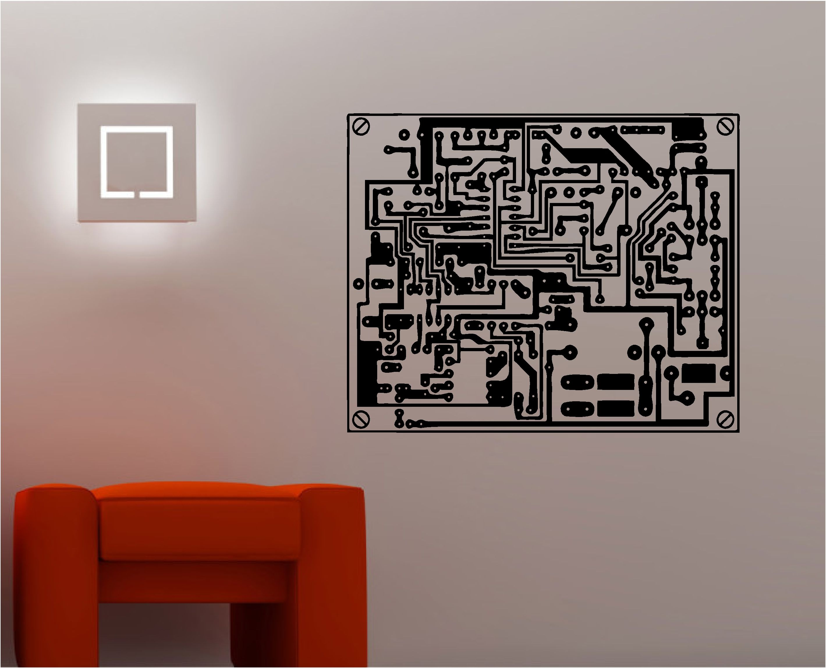 Paint Or Cut Out Large Oversized Circuit Board Pattern For The Backdrop  Walls.