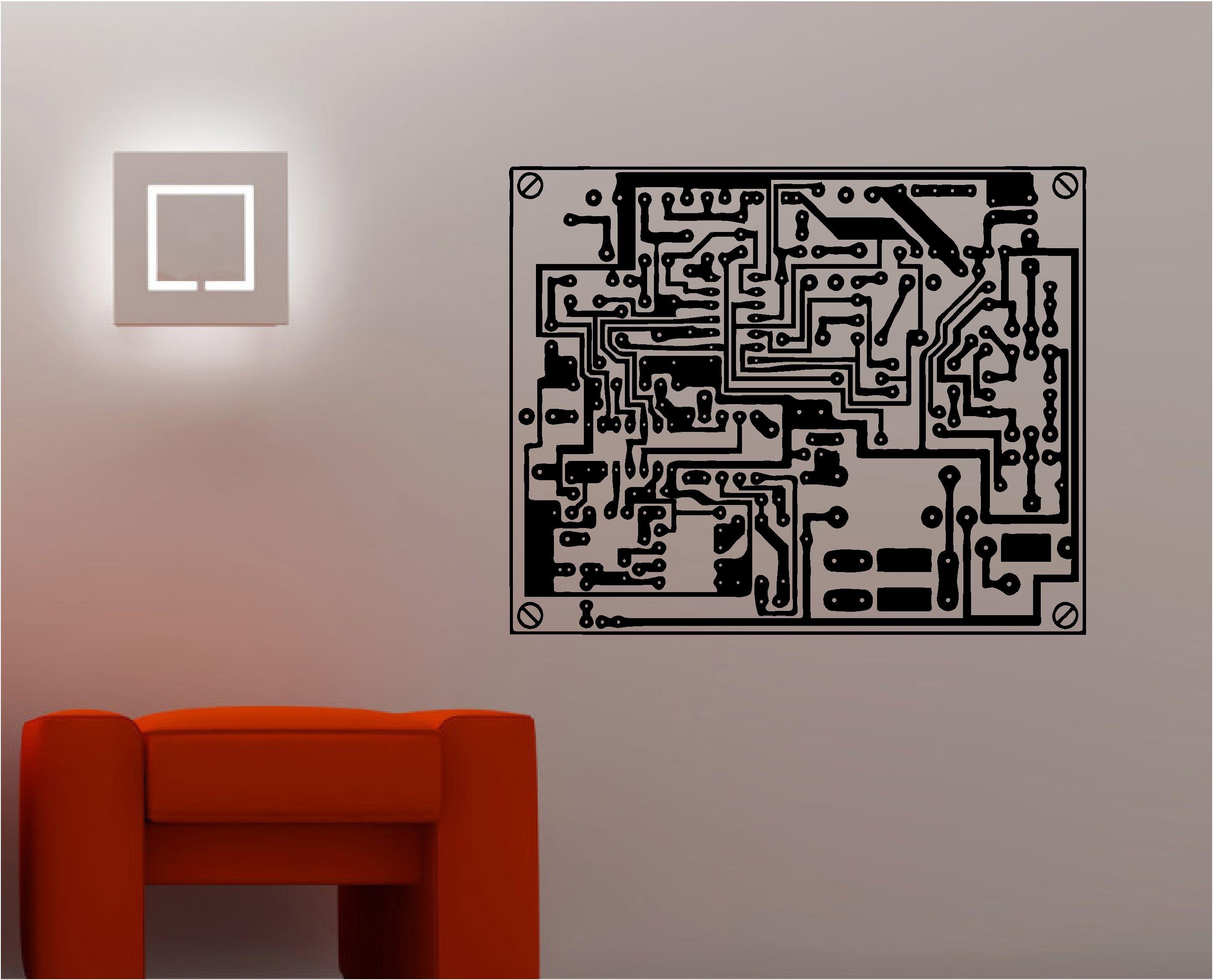 Grunge Circuit Board Design Using Electronic Circuit Patterns And