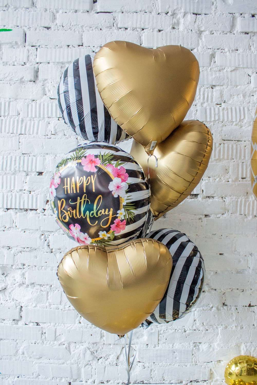 50 Birthday Parties Gold Pineapple Foil Balloon And Tablet Tropical