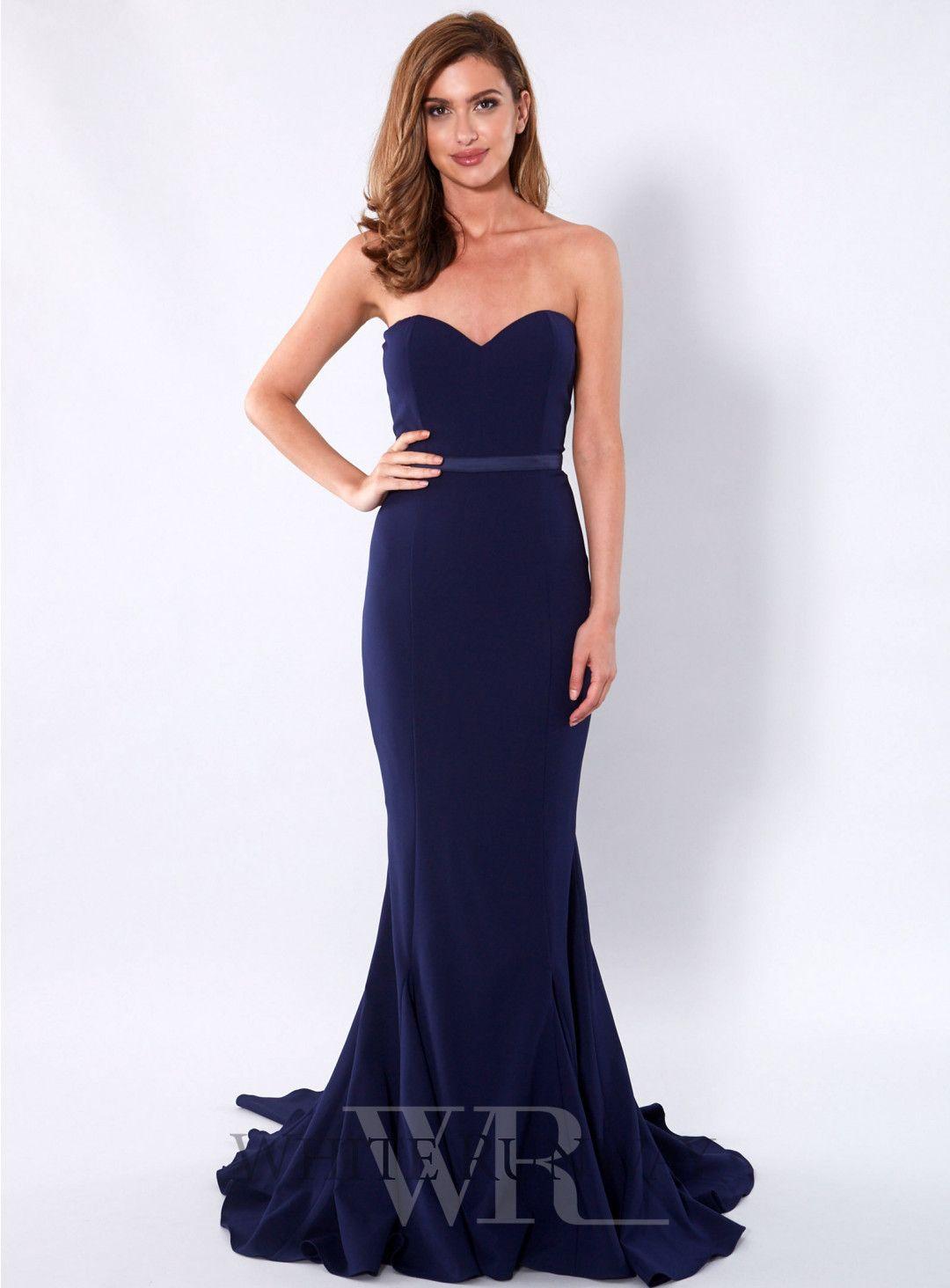 Navy arianna dress an elegant floor length gown by elle zeitoune a