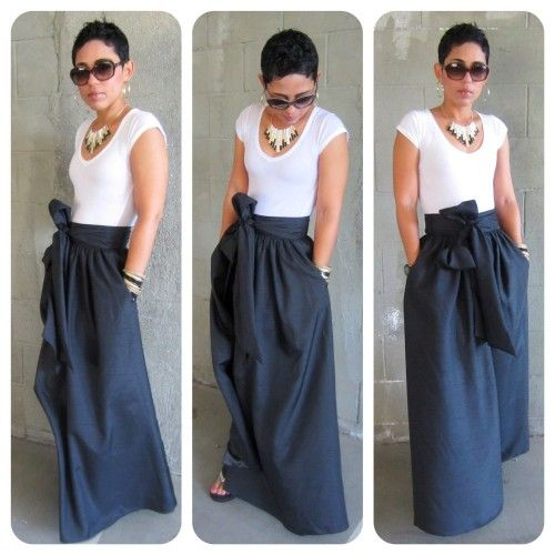 Maxi Skirt and T-Shirt for Informal Occasion | Photography ...