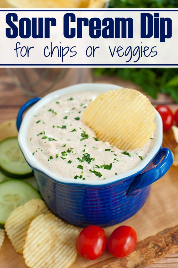 Easy Sour Cream Dip For Chips Or Veggies Sour Cream Dip Cream Dip Sour Cream Veggie Dip