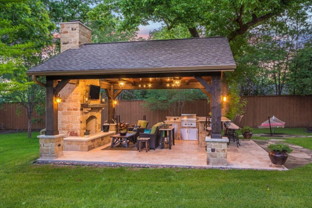 Style Size Lighting Layout And Use Of Space Outdoorkitchendesignslayoutpatio Gazeboplansarchitect Backyard Kitchen Outdoor Kitchen Patio Backyard Pavilion
