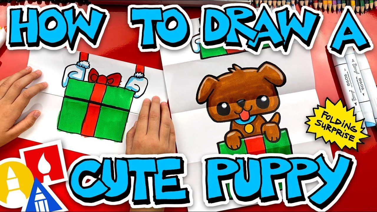 How To Draw A Puppy Present Folding Surprise | Art for kids hub, Drawing for kids, Art for kids