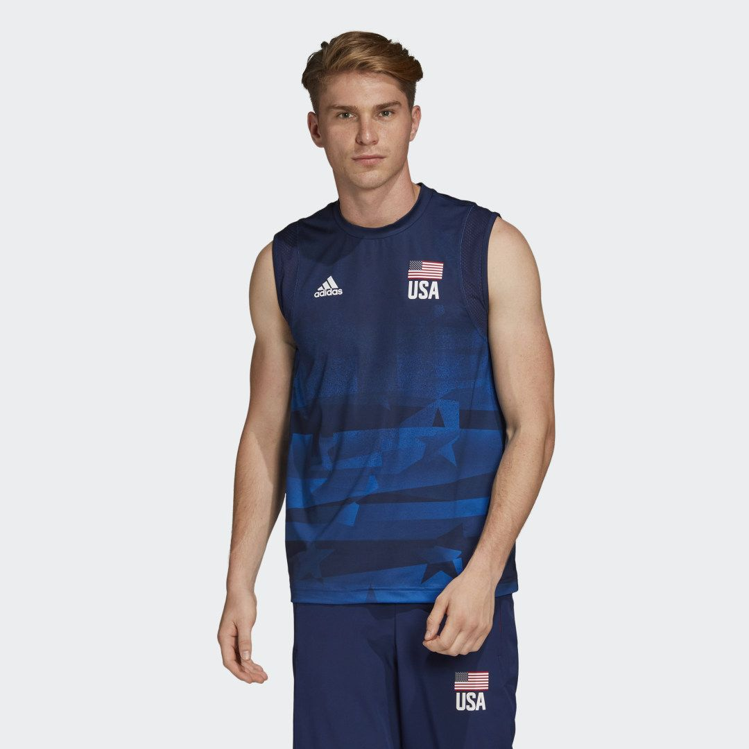 Usa Volleyball Primeblue Jersey In 2020 Usa Volleyball Blue Adidas Volleyball