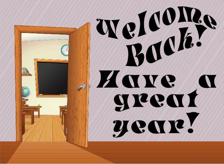 Back To School Sign In Fun Open Classroom Door Design Have A Great Year School Signs Back To School New School Year
