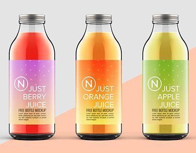 Bottle mockup image by Bee Na Pombejra on ขวด Just juice