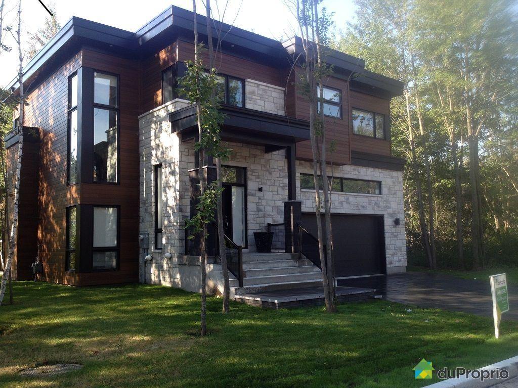 Somptueuse maison de style contemporain au coeur d 39 espaces for Espace vert quebec