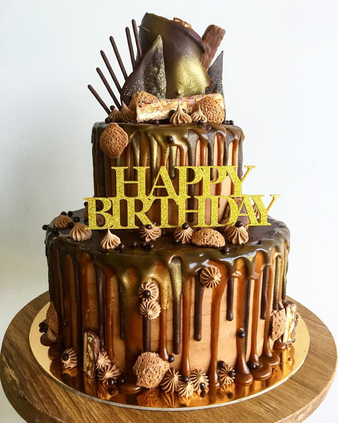 Prime Cake By Shelley Double Tier Snickers Cake With Images Funny Birthday Cards Online Hetedamsfinfo