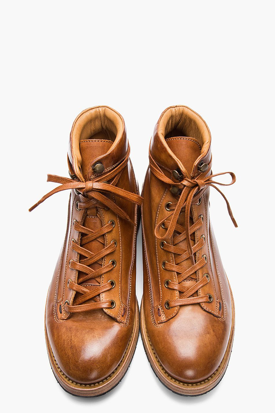 3d37ae08be9 7 Days Theory — PAUL SMITH - TAN LEATHER BEAT UP STUBBS BOOTS ...