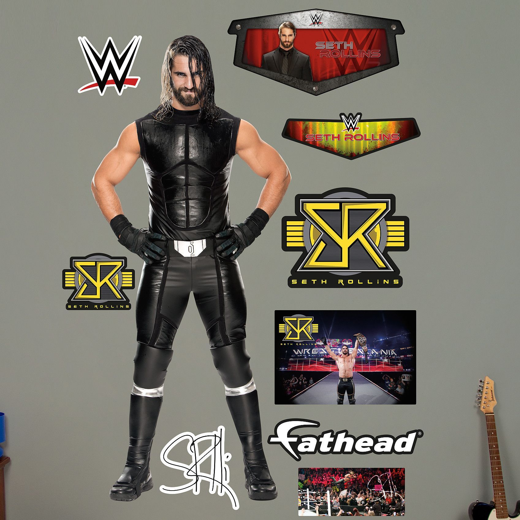 WWE Seth Rollins Peel And Stick Wall Decal Part 69