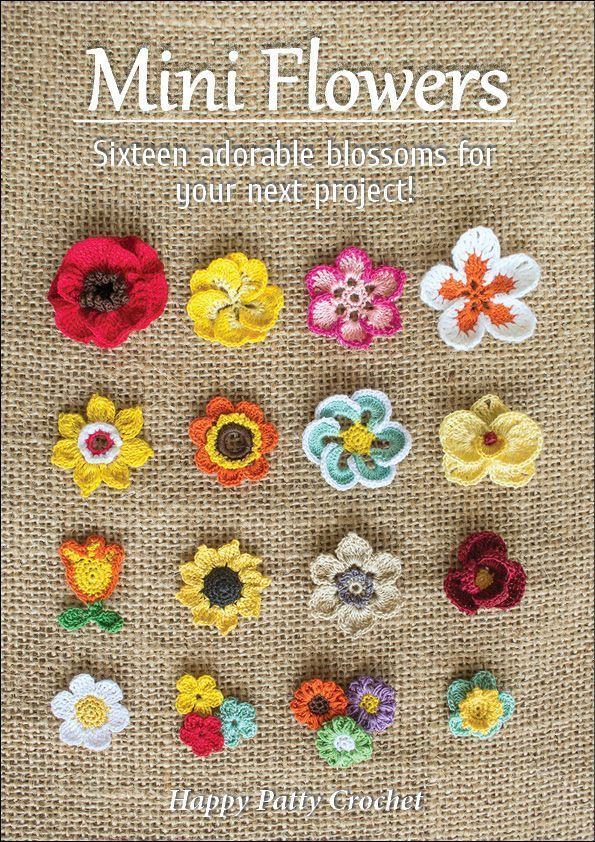 Photo of The e-book includes patterns for small moth orchids, roses, poppies, gerberas, plumeria, sunf…