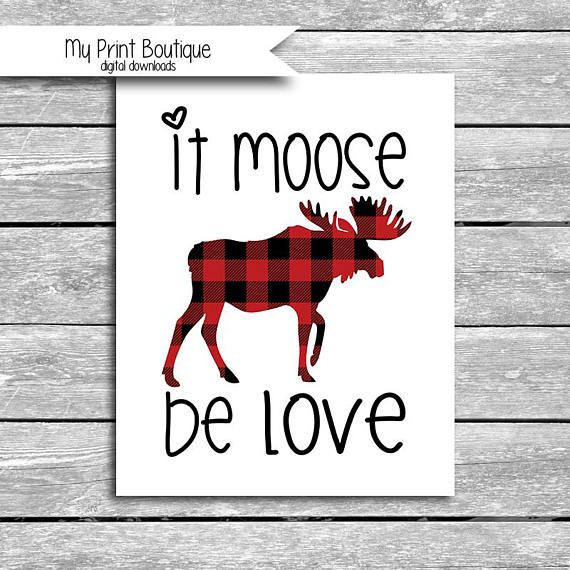 Buffalo Plaid Printable Chip Bags Red Black Wood Deer Moose Bear Digital Instant Download African American Baby Boy