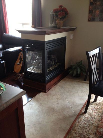 We Removed A Half Wall And Added A 3 Sided Fireplace 3 Sided Fireplace Half Walls Fireplace