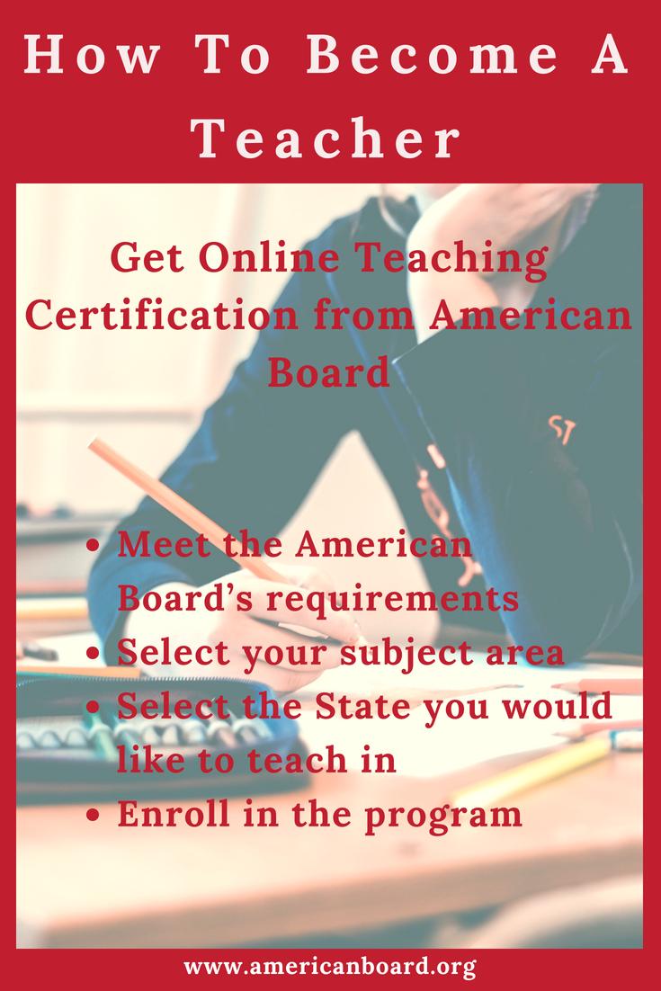 Enroll With American Boards Online Teaching Certification Program