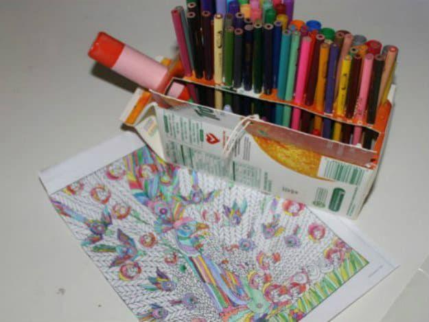 Recycled Juice Karton Schreibtisch Organizer | Nifty DIY  Schreibtisch Organisator Ideen, Zum Sie