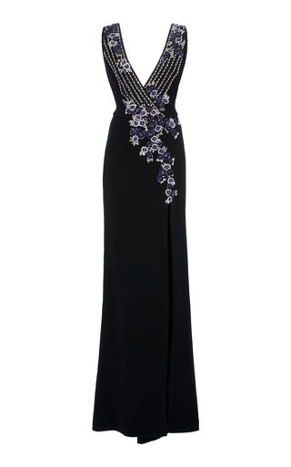 Metallic Floral Sequin Gown by Pamella Roland | Moda Operandi