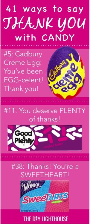 41 ideas for cute ways to say thank you with candy Gifts to show appreciation to friend