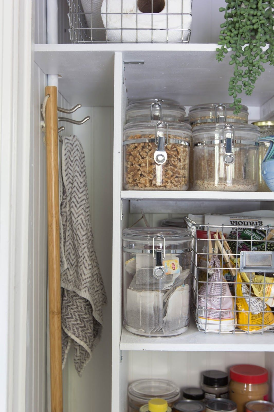 Turning A Water Heater Closet Into A Pantry Water Heater Closet Small Pantry Closet Water Heater