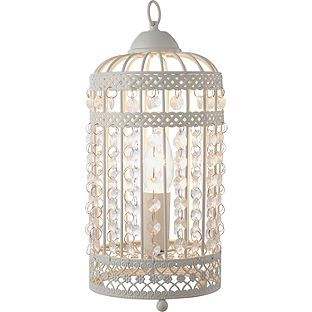 Buy Heart Of House Birdcage Table Lamp Cream At Argoscouk - Argos bedroom lights