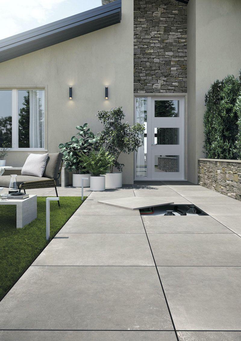 Dalle 2cm Grand Format Antiderapante Concrete Rondine Moncarro Dalles Terrasse Exterieur Revetement Terrasse Exterieur Carrelage Terrasse Exterieur