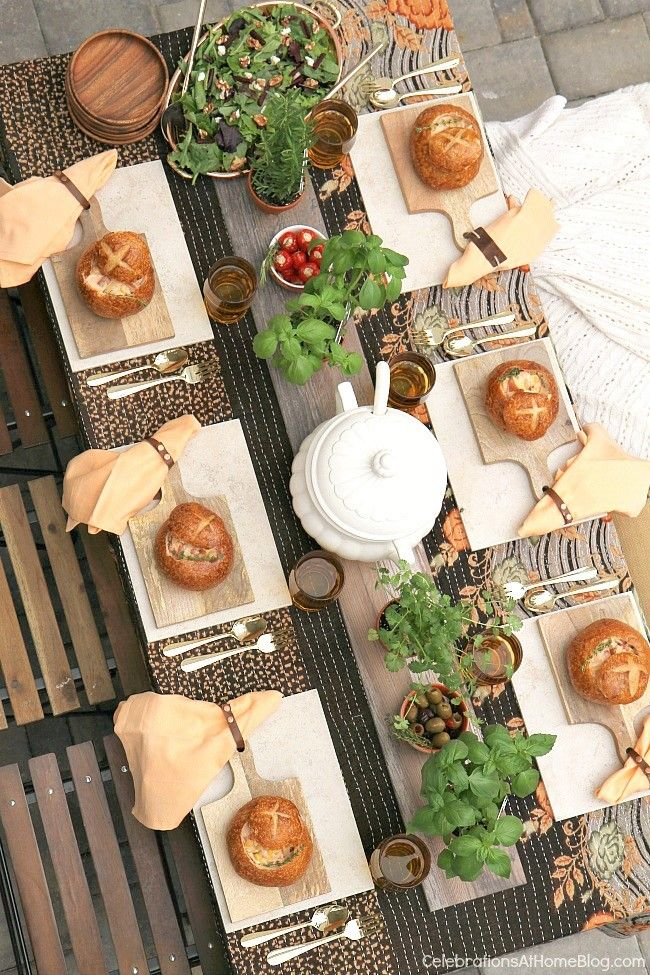 Host a cozy soup dinner party for cool weather entertaining at home. These design ideas and menu choices will guide you through it.