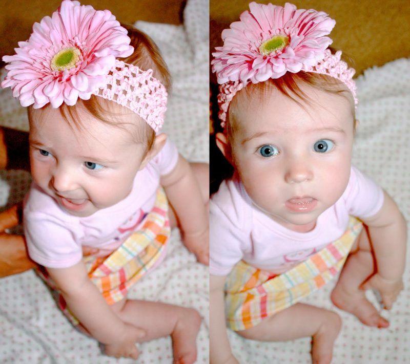 Für kleine Prinzessinnen: Baby Haarband selber machen