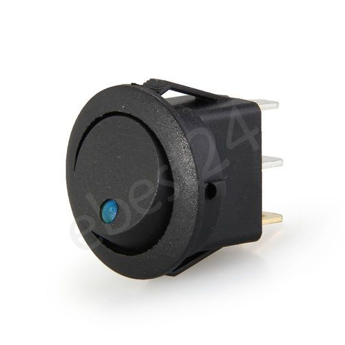 4 Snap In Round Blue Led Rocker Indicator Switch 3 Pin On Off 12v Dc 2 5 12v Led Led Rocker
