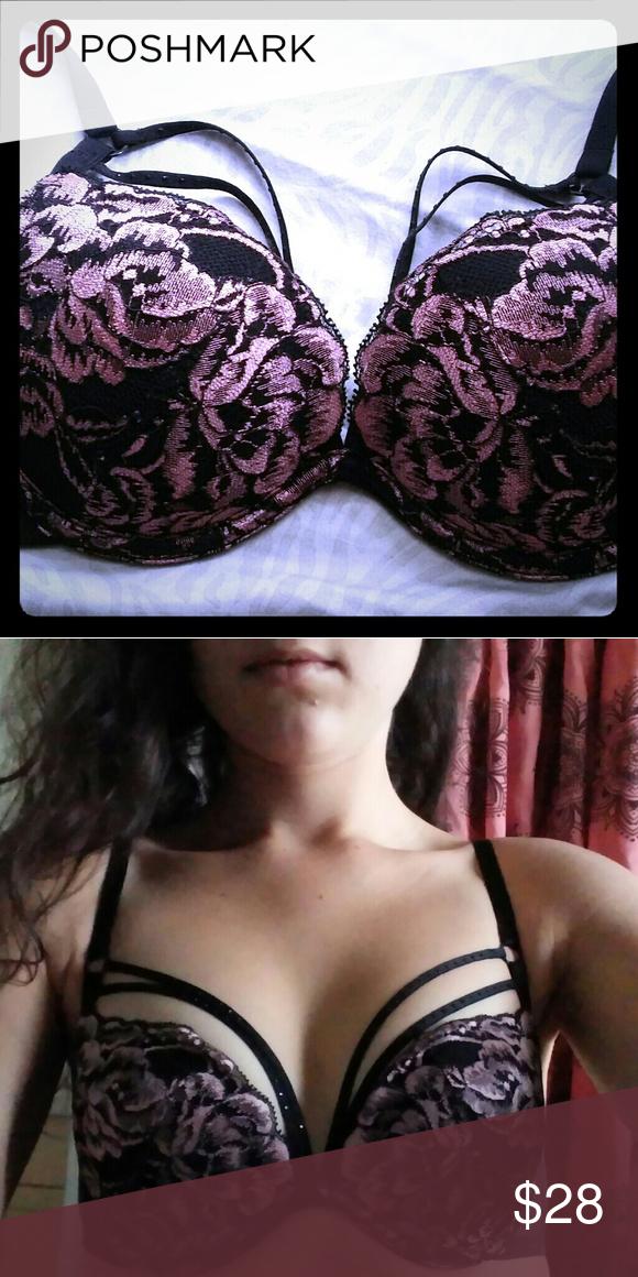 e7fb01b51 La Senza Beyond Sexy Push-up bra 32B Pink floral lace detail. Straps ...