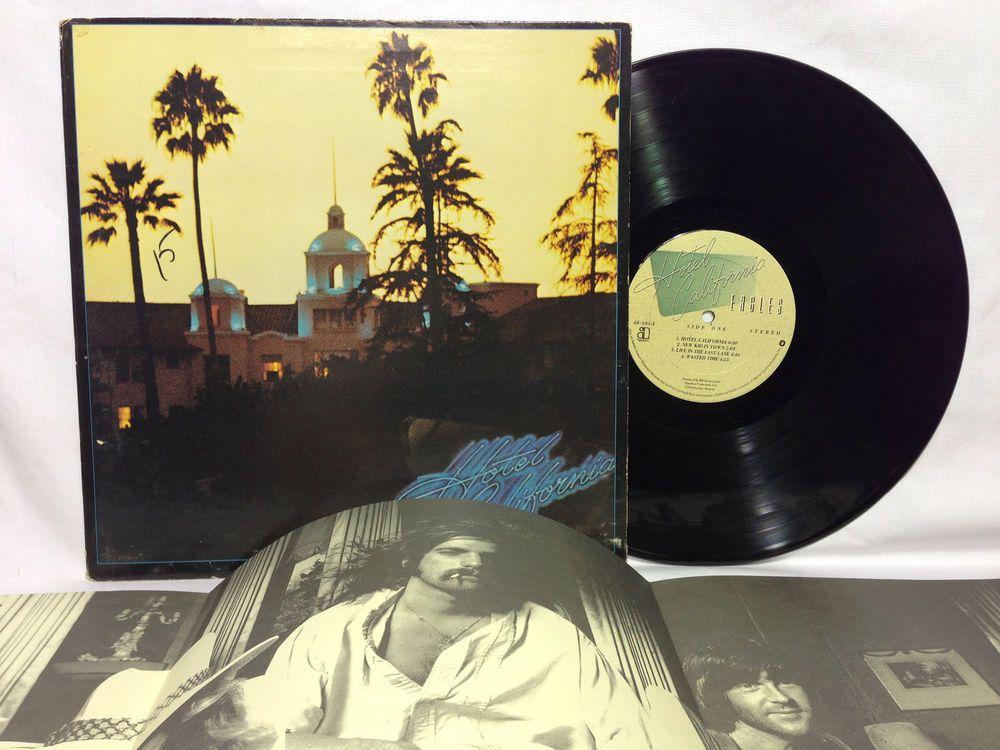 Eagles Hotel California Vinyl Record Lp Asylum 6e 103 Poster
