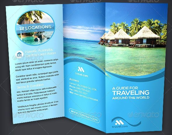 tri fold travel brochure examples thevillas co