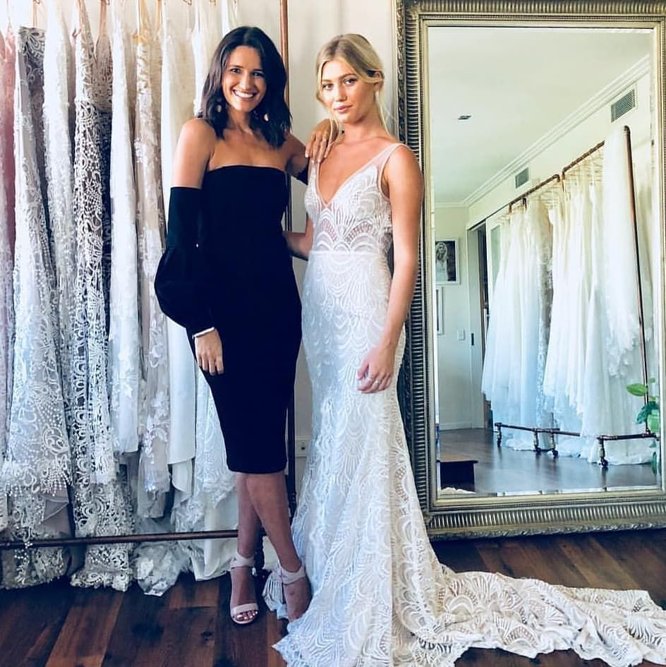 Featuring Carla With A Lovely Lady Wearing The Harlie Gown