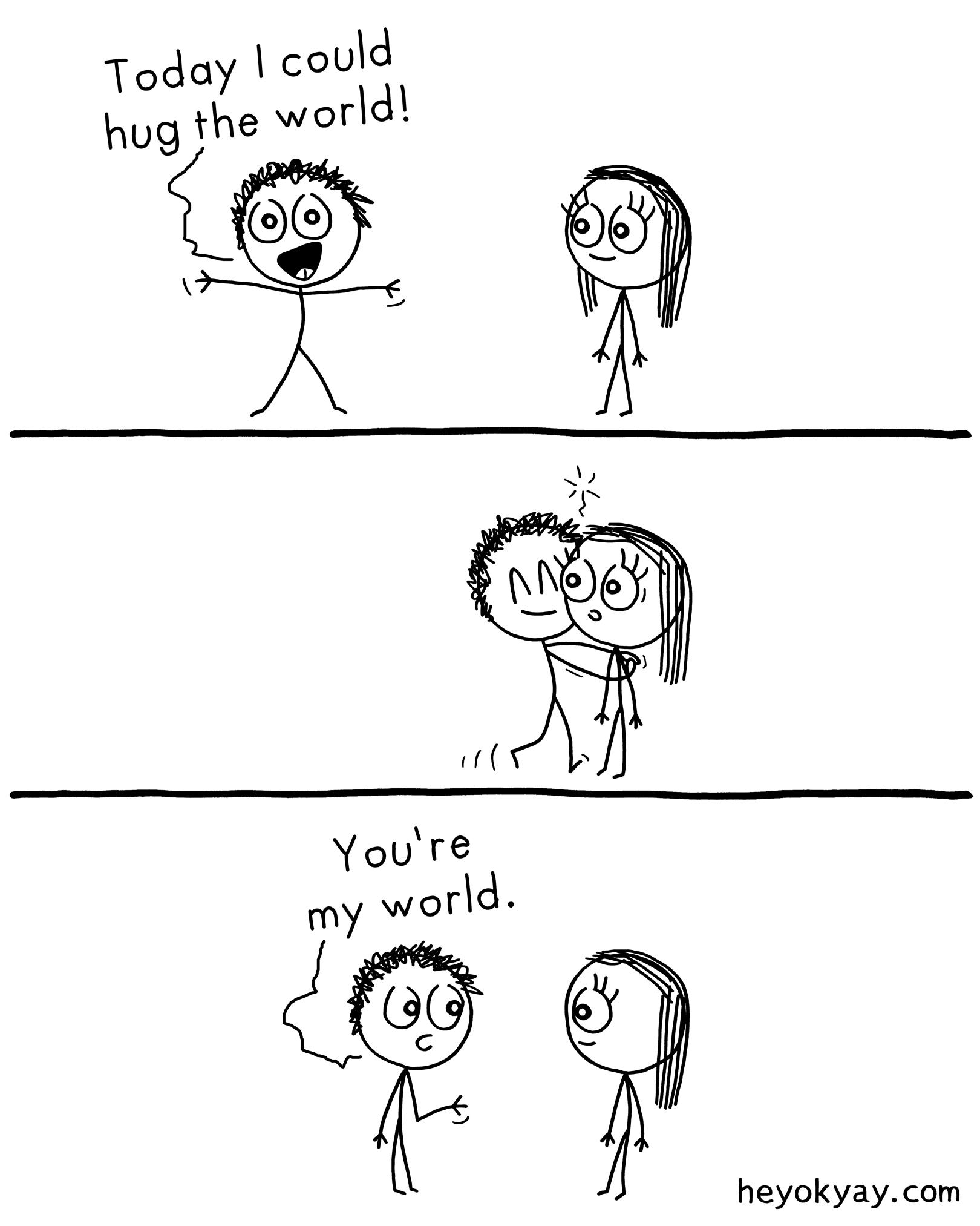 #love #comics #hugging #cute #heyokyay