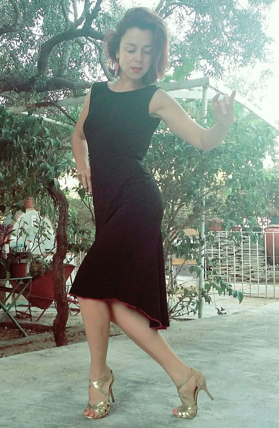 Black Poem Dress By Selalma On Etsy Tango Sukienki W 2019