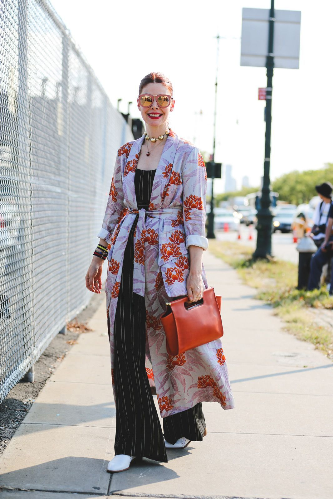 100+ Outfits We're Copying From The Streets Of New York City #refinery29  http://www.refinery29.com/2016/09/120553/nyfw-spring-2017-best-street-style-outfits#slide-116  Tinted frames are the next big thing....