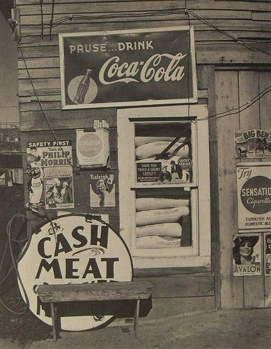 1960s NEW MEXICO vintage coca cola philip morris signs Store Storefront Photo by Rondal Partidge, via Flickr.
